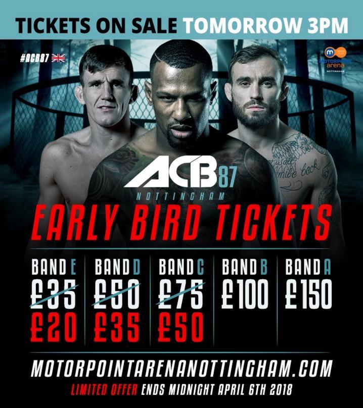 ACB Nottingham tickets