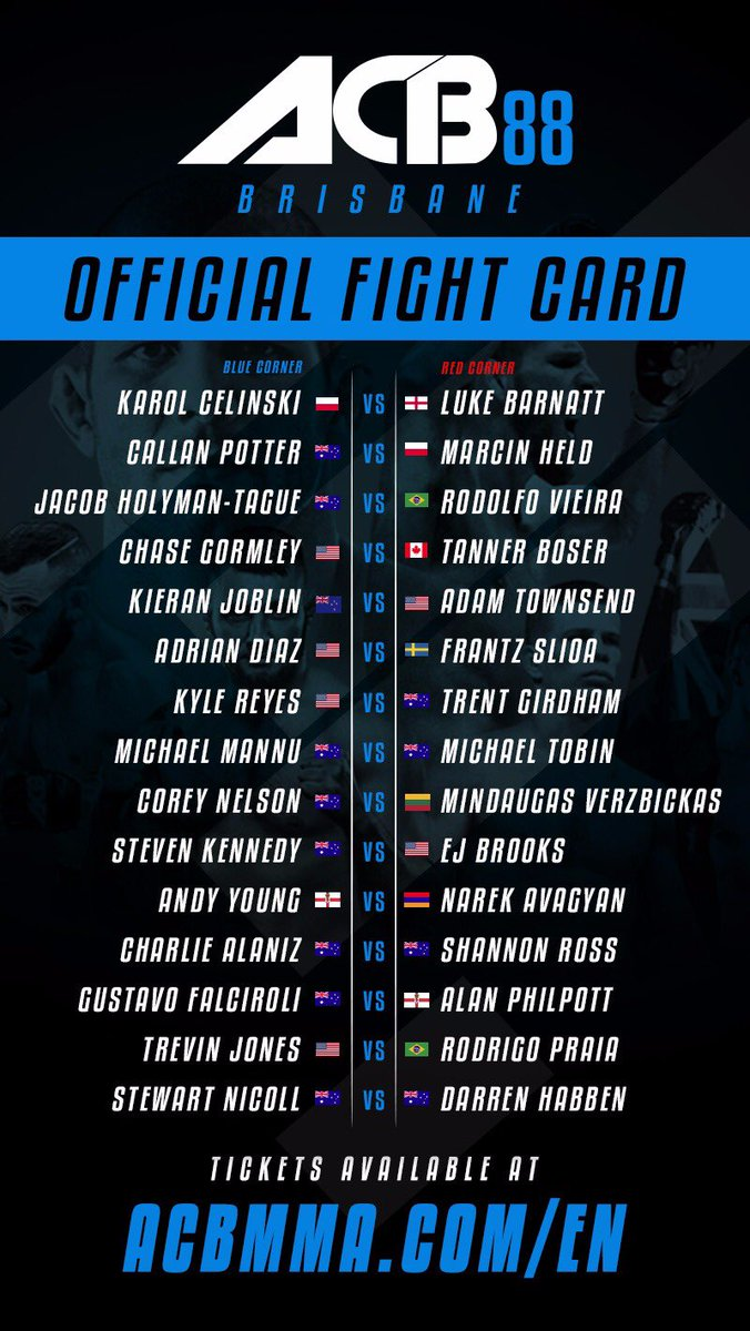 ACB88 Fight Card