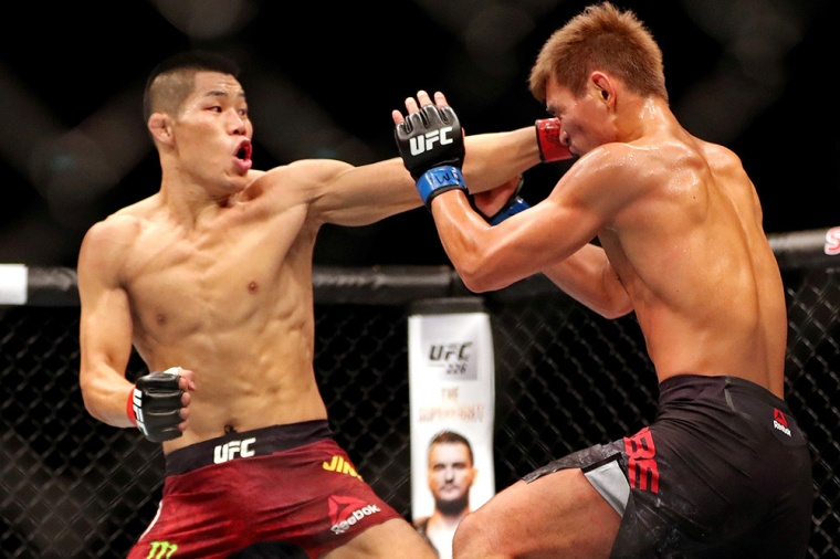 MMA: UFC Fight Night-Singapore-Jingliang vs Abe